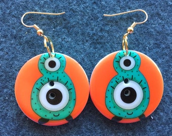 Monster Eye Button Earrings