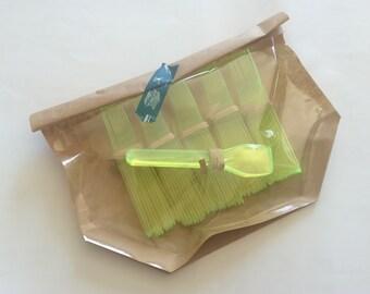 50 mini  plastic spoons for ice cream, dessert