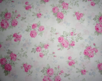 Pink Rose, Shabby Rose, Fabric, Cotton Fabric, Shabby and Chic, Tanya Whelan, Sewing Supplies, Quilting and Sewing, Quilt, Quilting Supplies