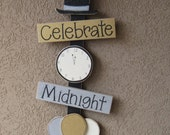 NEW YEARS Thoughts, top hat, clock, balloons, wall, door, office, and home decor