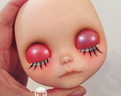 OOAK custom blythe - faceplates only - for Elily. Payment #2 of 2