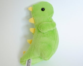 Lime Green and Yellow Dinosaur Plushie READY TO SHIP