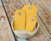 SUNFLOWER Yellow handmade luggage tags
