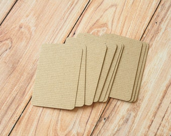 200pc RIBBED Brown Eco Series Business Card Blanks
