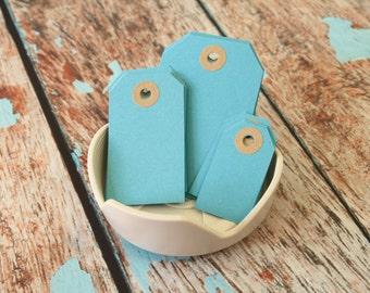 SKY BLUE handmade luggage tags