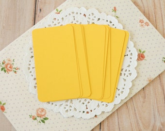 Yellow Gold 50pc handmade blank Business Cards