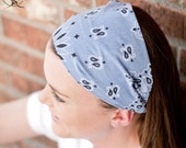 Denim Blue Hair Bandana Workout Headband Headscarf Head Wraps for Women Running Headband Hair Scarf Headscarves Blue (#4005) M