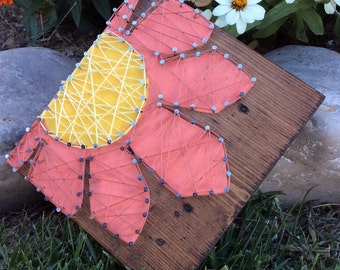 String Art Flower Home Decor