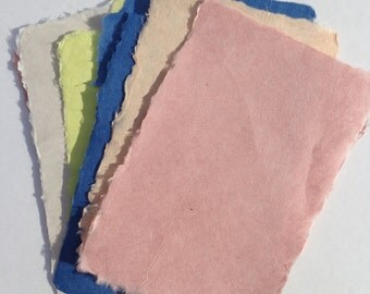 Ten sheets of elegant, strong, thin handmade paper