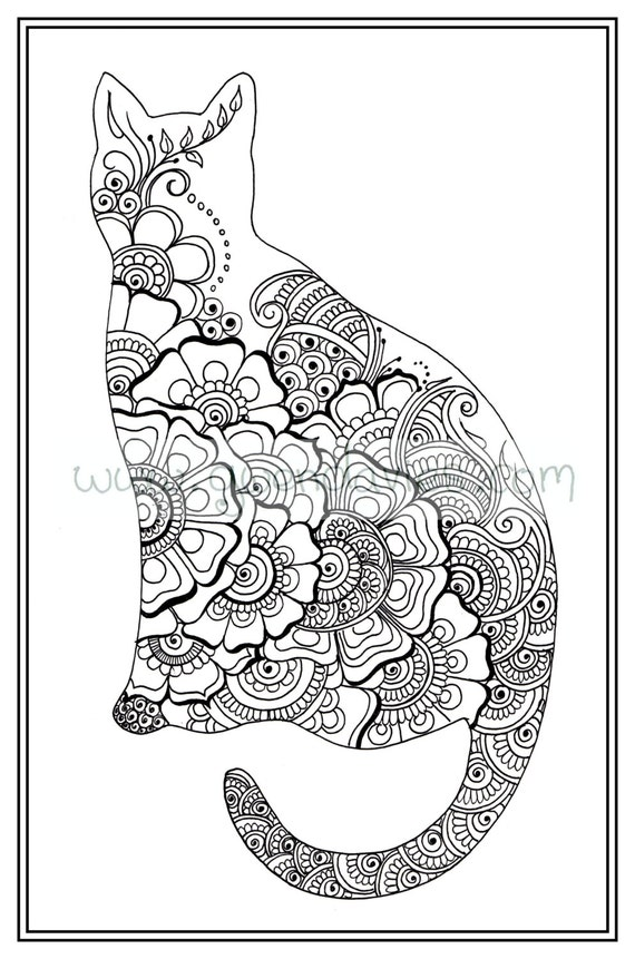 Adult Colouring Book Zen Henna Hand Drawn Art Therapy Beautiful Coloring In Garden Zentandle Mandala