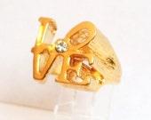 Vintage Robert Indiana Love Ring
