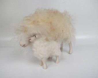 Icelandic Ewe Cheek to Cheek with  Lamb