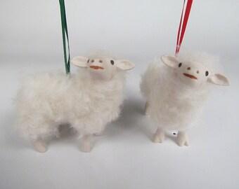 Colin's Creatures Porcelain and Wool Bovska  Lamb Ornament