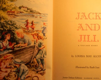 Vintage Jack and Jill book by Louisa May Alcott