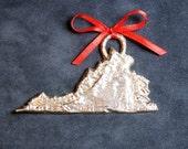 Pewter Virginia Ornament