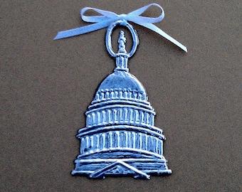U.S Capitol Pewter Ornament