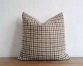 Harris Tweed Cushion Cover - Ochre, Oatmeal and Grey