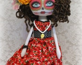 On Sale Guadalupe Sugar Skull Dia de los Muertos OOak Collectable Art Doll Day of the Dead
