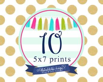 10 Professionally Printed Invites with white envelopes, Printed Invites, Printed Invitations- Dreamlike Magic Designs