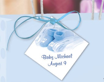 satin ribbon favor tags gift tag hang tag baby shower 51095