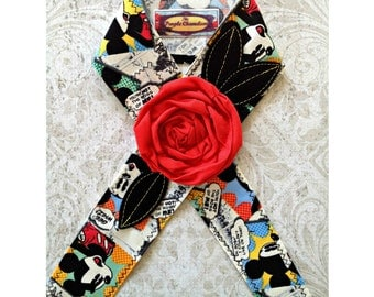 Cartoon Mickey Mouse Inspired Headwrap Headband Disney Inspired Headband Headwrap Tichel Accessory Headcover Gifts for Her