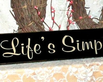 Cherish Life's Simple Pleasures - Primitive Country Painted Wall Sign, Home decor, Inspirational Quote, Inspirational Sign, Wall Decor