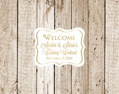 Gold Foil Printed Custom Stickers 25 count-Gold Favor Stickers