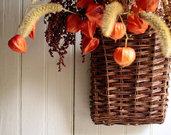 Waning Light Lantern Pouch - Autumn Front Door Decor - Autumn Wreath - Fall Wreath
