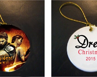 AWESOME Resident Evil Christmas Ornament PERSONALIZED