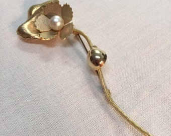 Golden Rose Brooch