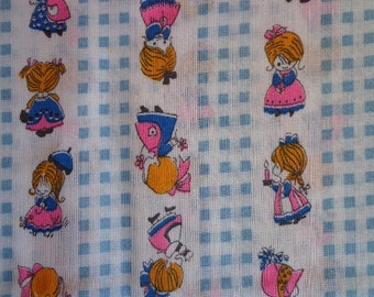 Girl Themed Fabric, One and a half yards