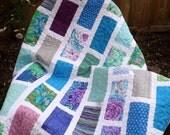WEEKLY DEAL - Cool Garden Modern Lap Quilt - Kaffe Fassett Fabrics