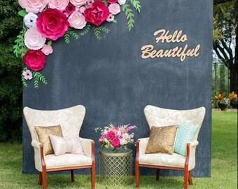 Paper flower backdrop, flower wall, flower backdrop, paper flower wedding backdrop, large flowers, giant paper flowers, custom paper flowers