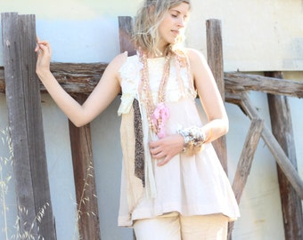 altered couture upcycled silk dress, strappy evening, hand stitched  vintage lace, A line, lined pure silk dress