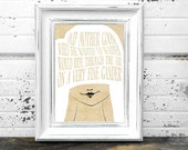 Signed Art Print - Mother Goose - Home Decor Wall Art