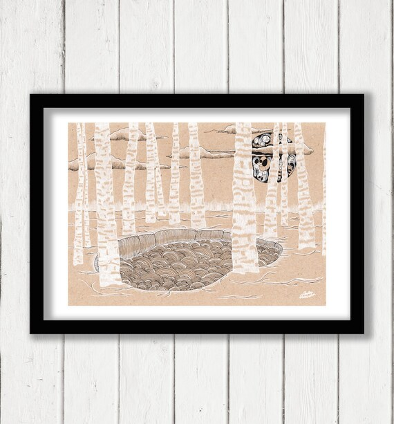 Birch Moon & Lake / Swedish Forest Dream