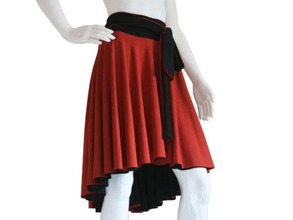 Plus size skirt, custom skirt, layered skirt, reversible asymmetric knee length skirt, black aline skirt, Plus Size Skirt, Plus Size Clothes