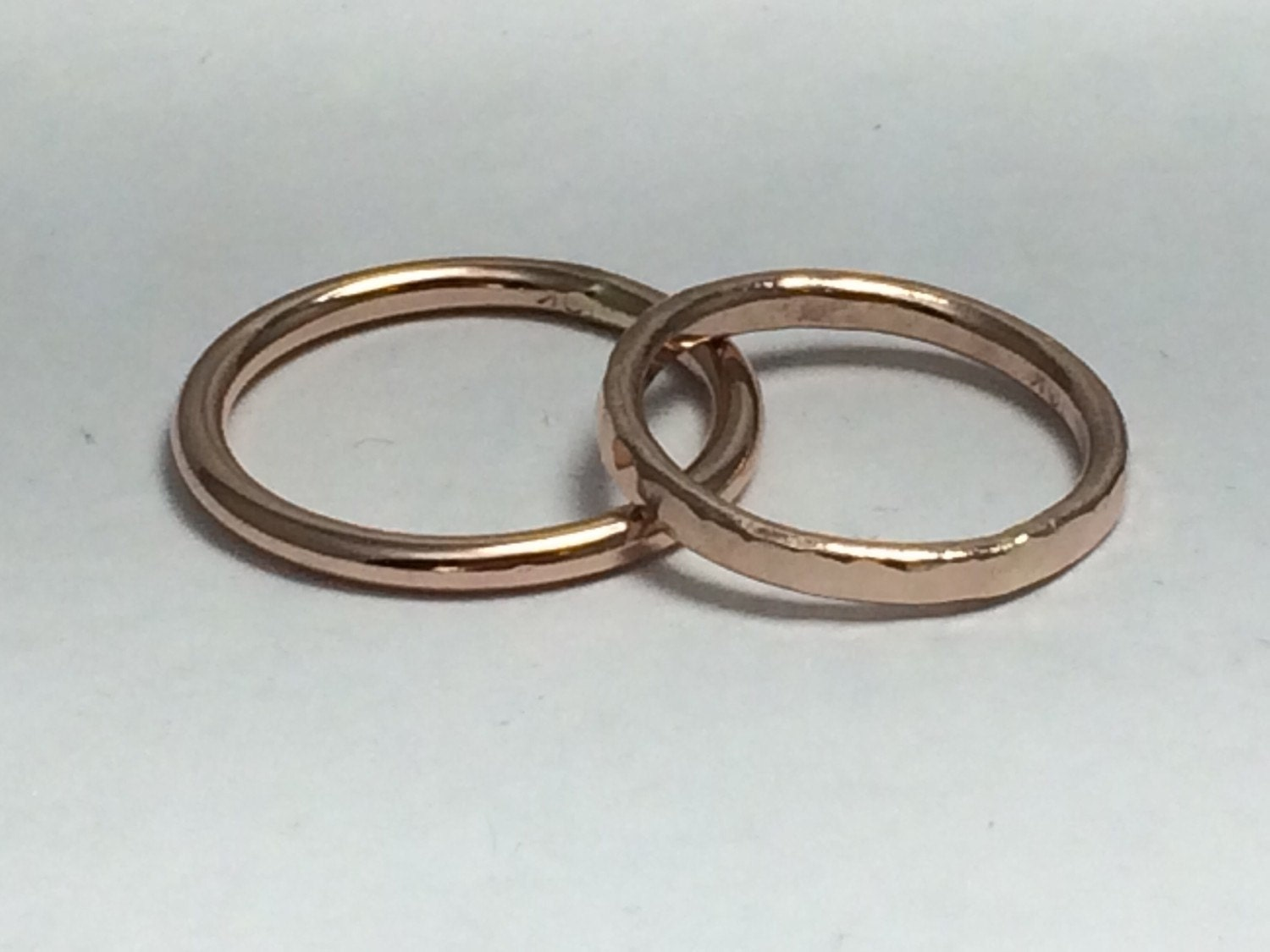 Thick rose gold stacking rings wedding bands his and hers