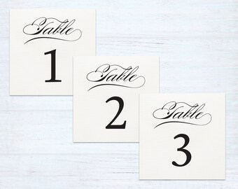 Table Numbers – Classique