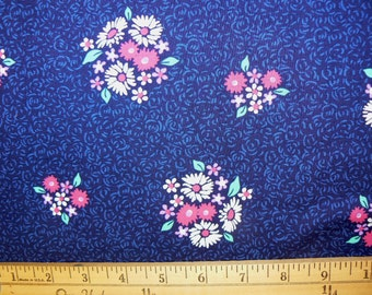 Bitty Bouquet Cotton Fabric in Midnight by Michael Miller - 1 Yard