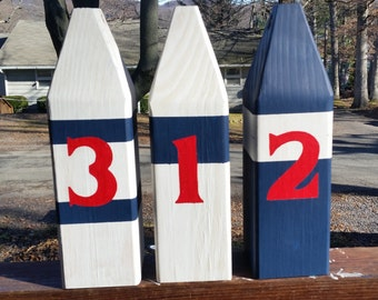 OOAK Reclaimed Wooden Buoys Set of 3. Made to Order. Lake decor Nautical Decor. Beach Decor