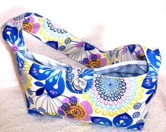 Shoulder Bag, Fabric Purse, Handmade Bag, Casual Purse, Designer Purses Handmade, Gift for Her, Women's Everyday Fabric Purse,