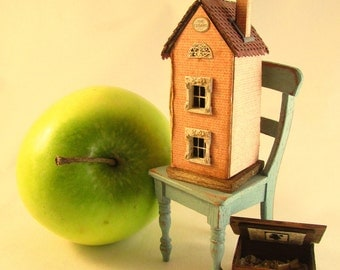 From *DJD* 1/144th scale furnished dollhouse for a dollhouse,with boxed furniture.