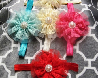 SPRING Clearance,  shabby chic headbands, your choice of color