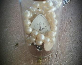 Steampunk Apothecary Jar Necklace