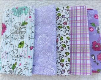"""Fabric Bundle Fat Quarters  100% Cotton  5 -18"""" x 21"""""""