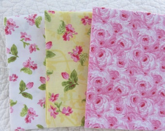 """Fabric Bundle Fat Quarters  100% Cotton  3 -18"""" x 21"""""""
