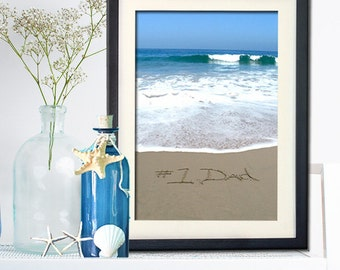 Gift for Dad- Awesome Gift For Dad- Unique Beach Decor - Inspirational Wall Art- Unique Ocean Photography - Dad Birthday Gift- New Dad Gift
