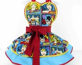 Girl Power Comic Hero Apron by Dotties Diner Womens Apron Super Cute