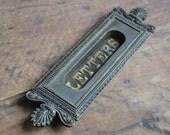 Authentic Brass Ornate Letter Slot E2166